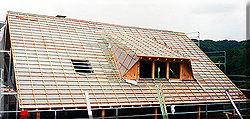 Wärmeisolierung für das Dach, Neubau in Matzenbach